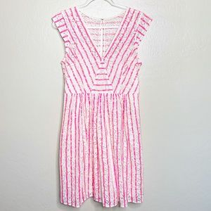 Plenty By Tracy Reese Cream and Pink Lace Dress D